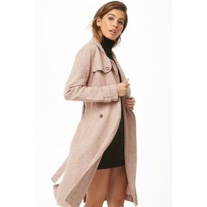 Forever21 Houndstooth Trench Coat
